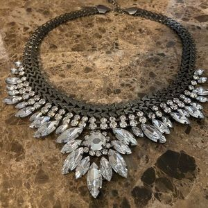 Gunmetal blingy chunky necklace